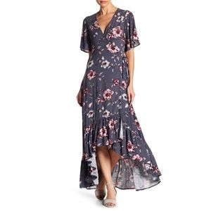 On The Road Fay Floral Wrap Dress